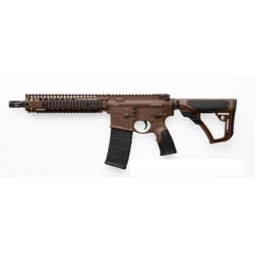 "Puška sam. Daniel Defense, Model: MK18, Ráže: .223 Rem, hl.: 10,3"", MilSpec+ Dark Brown"
