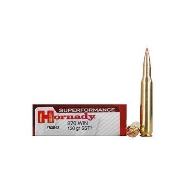 Náboj kulový Hornady, Superformance, .270 Win., 130GR, SST