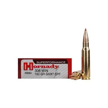 Náboj kulový Hornady, Superformance, .308 Win., 150GR, GMX