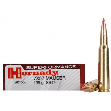 Náboj kulový Hornady, Superformance, 7x57mm Mauser, 139GR, SST