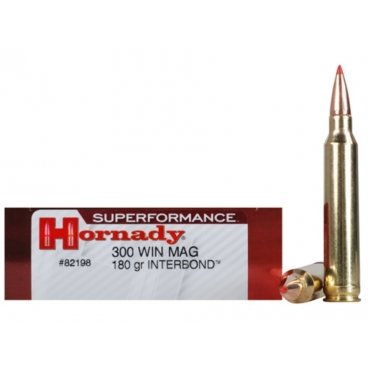Náboj kulový Hornady, Superformance, .300 WinMag, 180GR, Interbond
