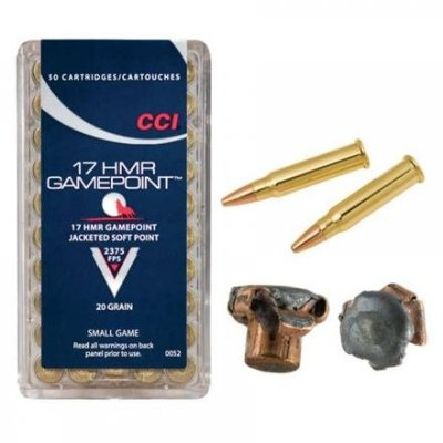 Náboj CCI .17 HMR Gamepoint jacketed soft point