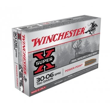 Náboj kulový Winchester, Super-X, .30-06 Spr., 150GR, Power Point