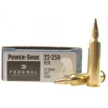 Náboj kulový Federal, Power Shok, .22-250 Rem., 55GR, SP