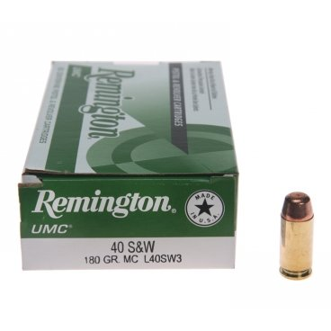 Náboj kulový Remington, UMC, .40 SW, 180GR, MC